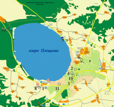 map of Pereslavl-Zalessky